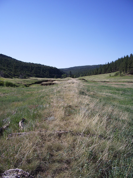 Abandoned Railroad Right of Way - North Ponil Creek Canyon