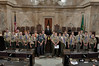 House Chambers - Representative Richard DeBolt with Eagle Scouts.
