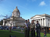 Eagle Scouts outside the Capitol Building.