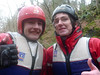 The river walk at Rydal Hall - Andrew & Jacob, cold but happy to have conquered the flow