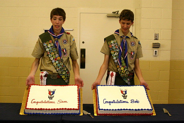 The Eagle Scout Court of Honor for Bob and Sam Wiley