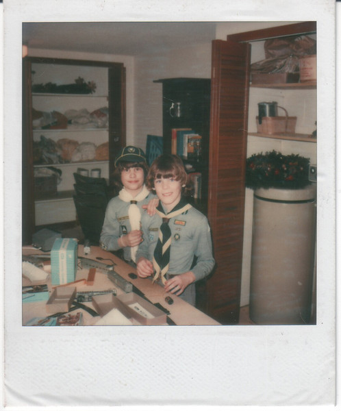 1979 - Pat in Cub Scouts, overnight visit to Toronto