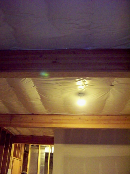 Fire sealed basement ceiling