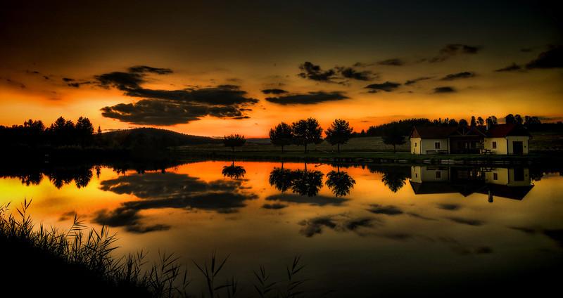 Sunset at Sauerteich