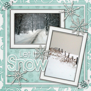 Winter Frost Quickpage by Just So Scrappy