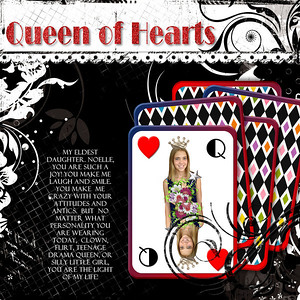 Black and white power palate- creative memories playing card freebie- CM If you give a girl a castle- erica zane