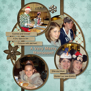 Scrapped using Winter Frost kit-by Just So Scrappy Template from Decorative Click and Fill 12x12 pages by Creative memories