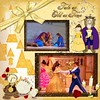 """papers and embellies """"Tale as Old as Time"""" by DeDe Smith Designs<br /> Spray ... also from DeDe (not part of a kit)<br /> mask freebie by Creative memories"""