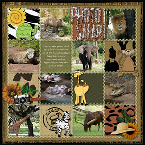 Zoo Crew- Totally Twisted Scraps Expedition Safari-- Kellybell Designs (Sun, camera, safari stamp, frame border)