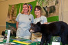 Elizabeth Flemming and Laurie Macdonald at the Defenders of Wildlife display