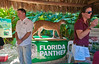 Darrell Land and Jennifer Korn at the Florida Fish and Wildlife Commission display