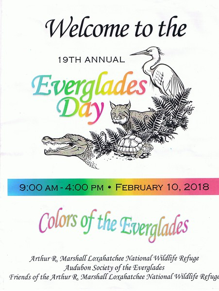 Sponsored by over 40 local, state and national government agencies and NGOs, Everglades day regularly attracts thousands of people.