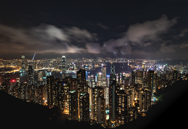 The first time at Victoria's Peak, Hong Kong