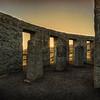 A sunset at the Maryhill Stonehenge
