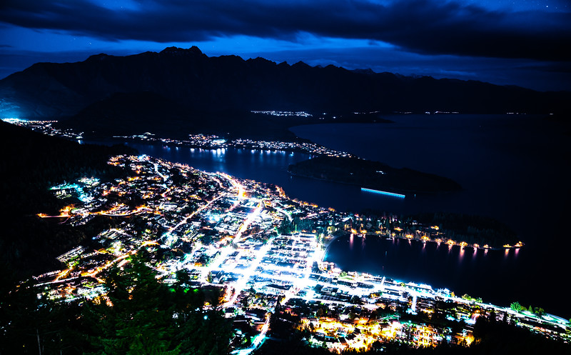 Queenstown Skyline at night