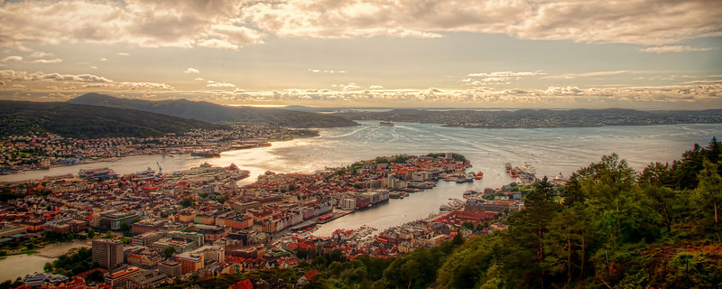 Fløyfjellet's view over beautiful Bergen