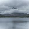 A misty scene at Lake McDonald