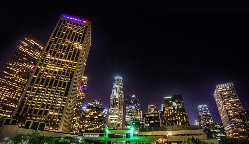 L.A. Downtown glowing