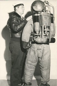 Mine Disposal Suit Back View