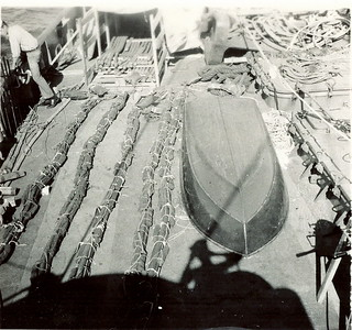 1965TNT hose wrapped in blocks of C-4 used in blasting deeper channel at Goose Bay. Labrador.