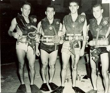 1952L to R: Rod Petty; Pierre Belley (Stoker); Bill Lawrence & Stan Stephenson