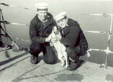 Wally Green & Clayton Obida with Dog