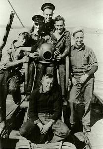 Glen Racey (Sitting)L to R: Kenny Dahms, Eric Galloway, Jack Jenkins (west Coast), ?, Slinger Wood