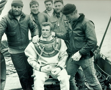Tracker Recovery off Sheet Harbour in 1971L to R: Joe Paquin, John Dohan, Ron Girard, Doug Ross, Jim LarderDiver: John Chaput