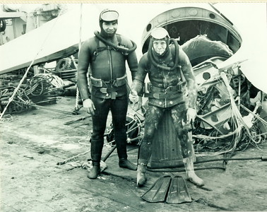 Tracker Recovery off Sheet Harbour in 1971L to R: John Dohan, Jimmy Larder