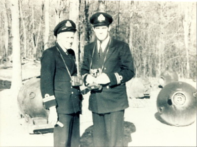 EOD School Indian Head, MD Spring 1951L to R: Tommy Thompson, Don Loney