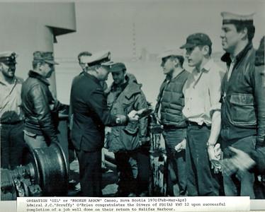 Oil Tanker SS ARROW Oil Recovery Job 1970