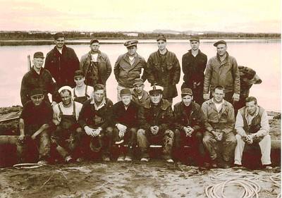 UDT 59Photo from L-R L.S Glen Frazel, P.O. Ike Eisnor, Lt/Cdr Arthur Rowse, US Diver, US Diver, P.O Francis MacArthur, US Diver, Sitting L - R, LSJim Podevin,US Diver, US Diver, LS Whitney,US Diver, CPO Nicholson,P.O. Stan Stephenson, US Diver, US Diver