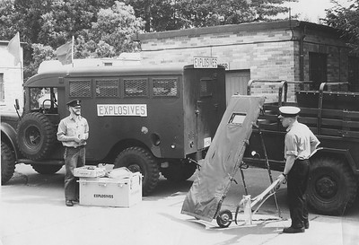 EOD Truck and TeamL to R: ?, Red Larsen