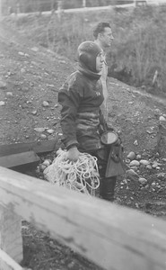 Nanaimo River - 10 Jan 1956Red Larsen & Rocky Verschere