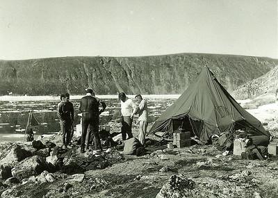 1956 Diving Camp on Brevourt IslandDew Line