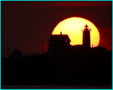 Sunrise Over Nubble Light