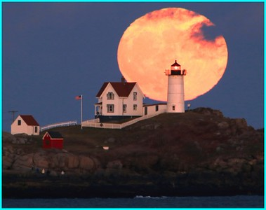 Moonrise Over Nubble Light