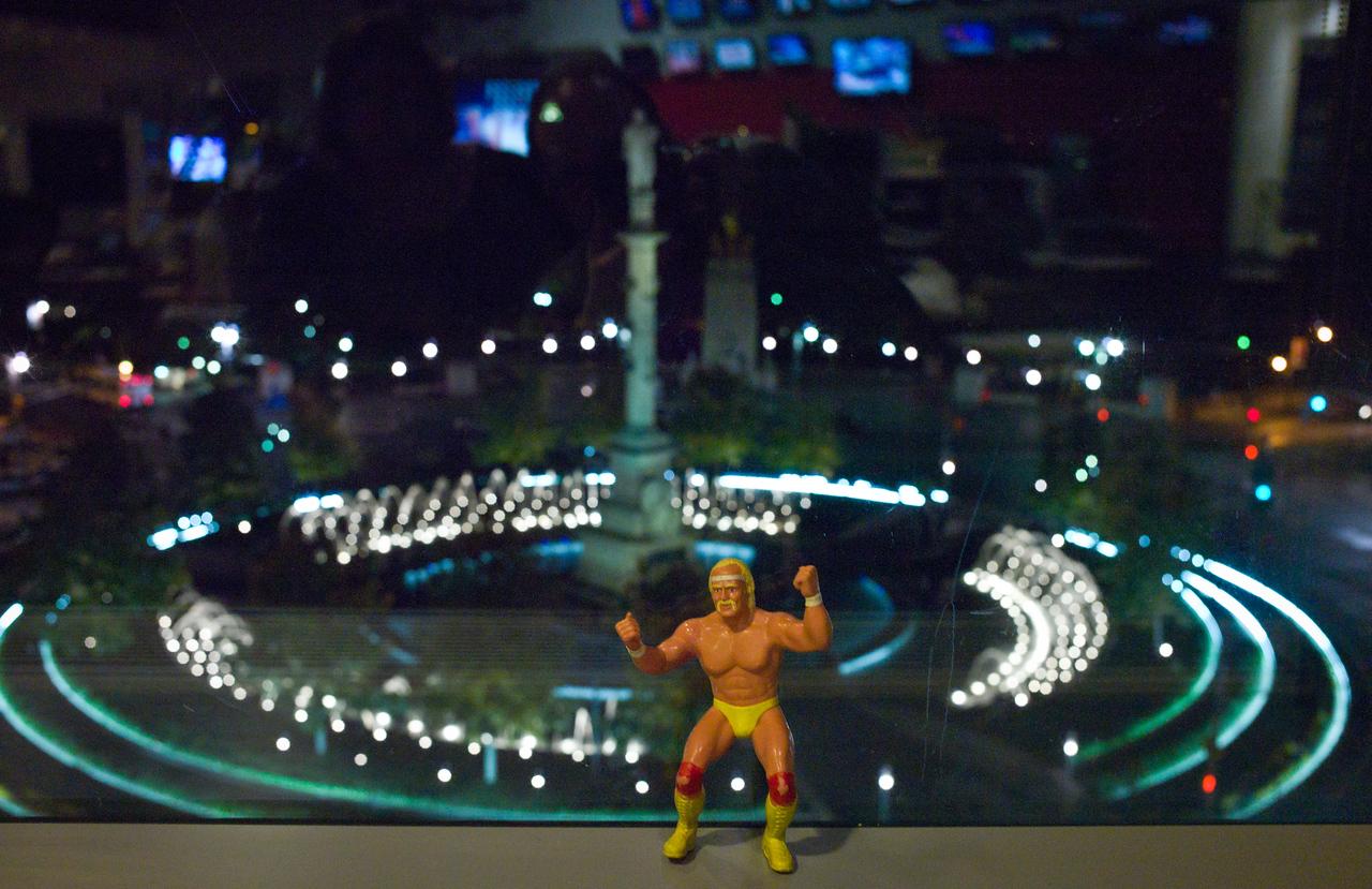 Mr. Hogan Turns his Back on Columbus Circle