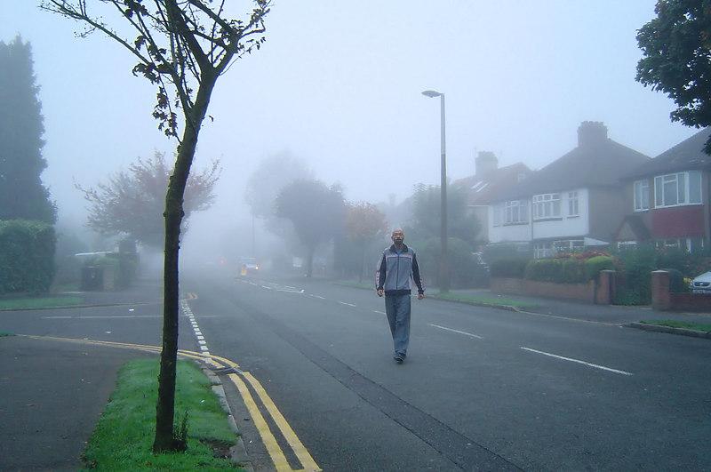 Walking Home in da Mist - Tripod