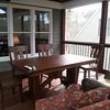 Inside the porch
