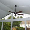 Hunter fan with Remotes<br /> 2 speakers were installed in the ceiling