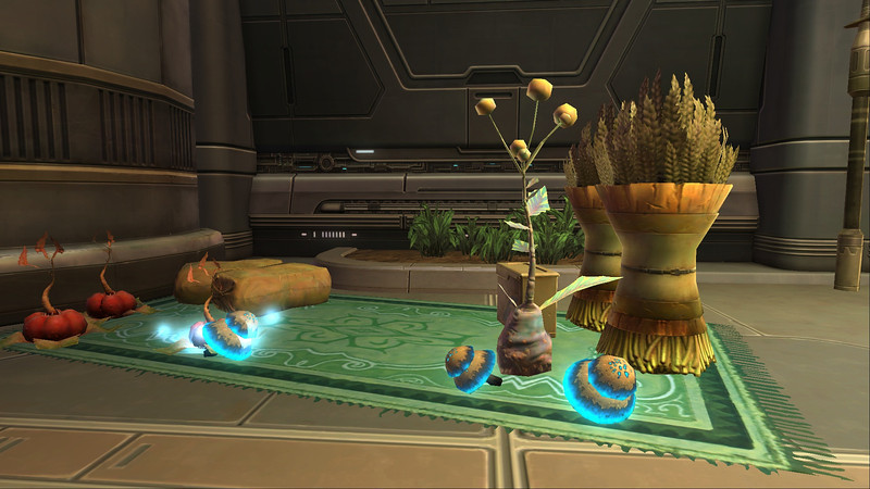 Some crops on display on Coruscant.