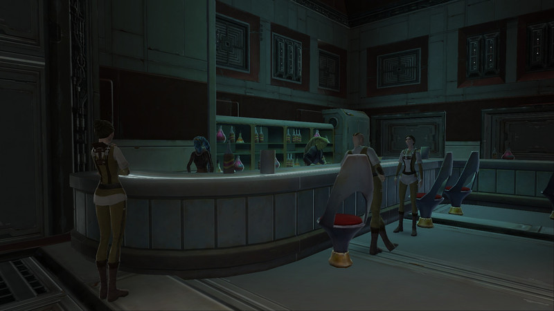 Republic citizens enjoying a little R&R at the cantina.