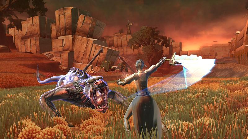 Saridia takes on a Trinthan Prowler!