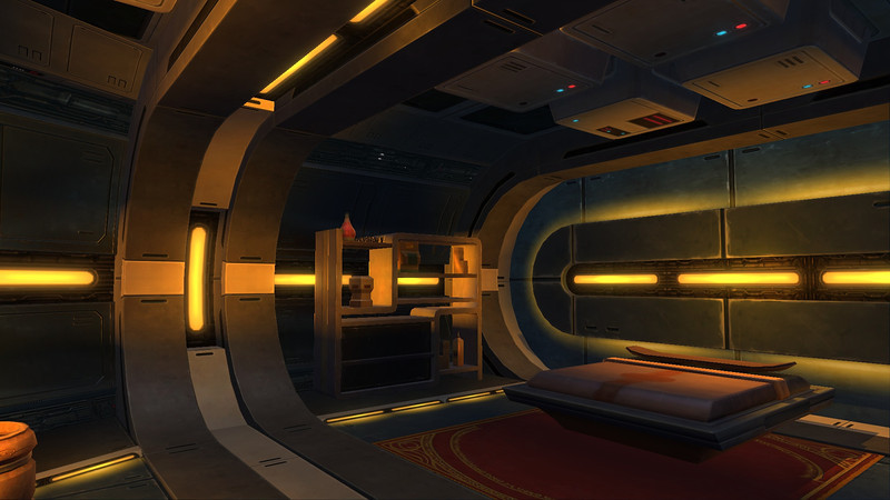 The Captain's Quarters on the Defender-Class Light Corvette