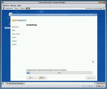 Indiana Installing  OpenSolaris Developer Preview 2 installer doing it's job - installing.
