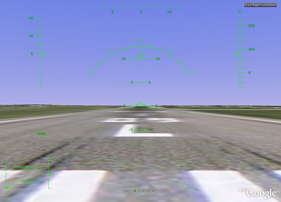 On the Runway  Once you've selected your options, you start on the runway.  Here I'm starting on Heathrow's runway 09.