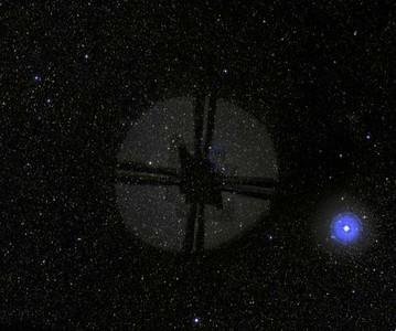 Teleporting Satellite  How else do you explain the translucency?