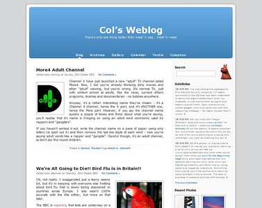 Col's Weblog v2 - It's Last Day  The last time we'll see this view of my website.  Saving a copy for posterity.
