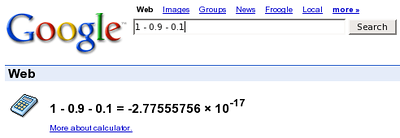 Google Can't Subtract  Looks about right to me.  I just had to save a screenshot of this for future reference.